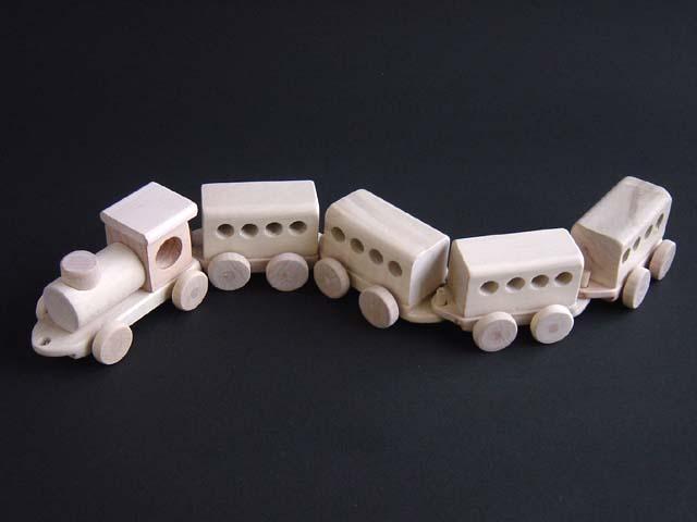 汽車ぽっぽセット - 組木細工の木工品【送料無料】 <遠野市場>岩手