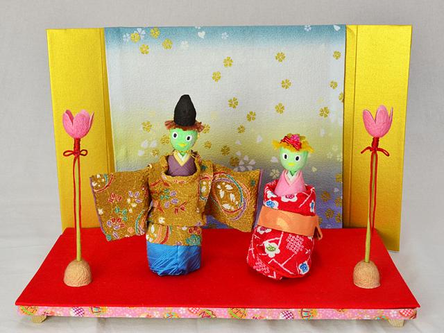 まゆひな人形 かっぱ立びな【受注生産】